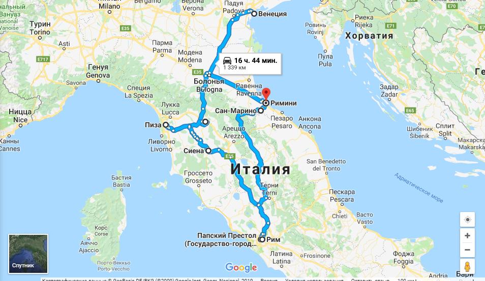 Маршрут по Италии на поезде или авто – что посмотреть за 8 дней