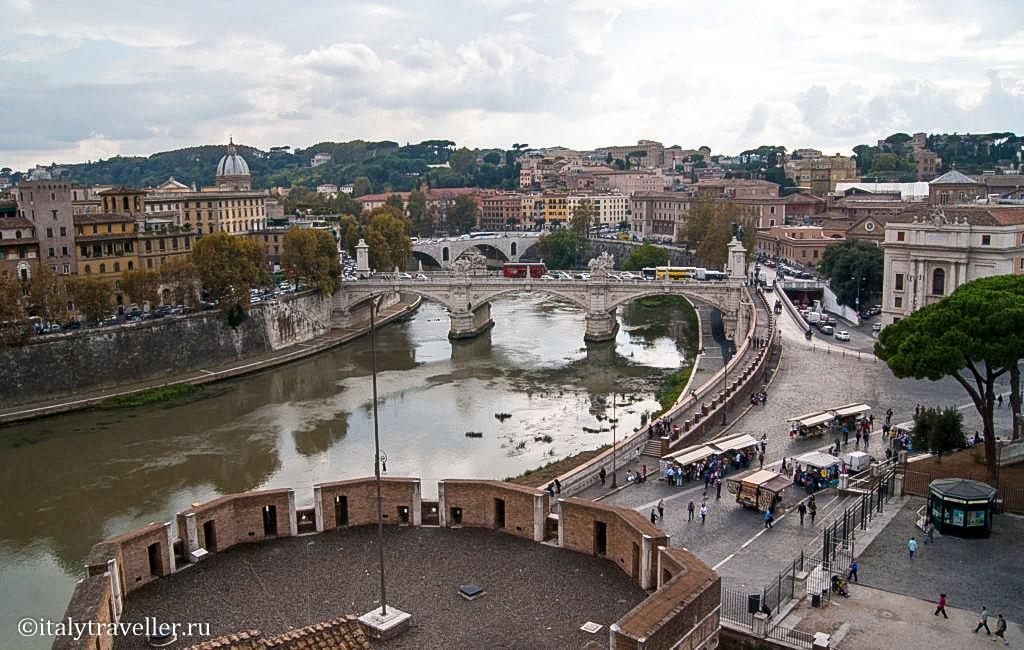 Набережная Тибра - еще одно место в Риме