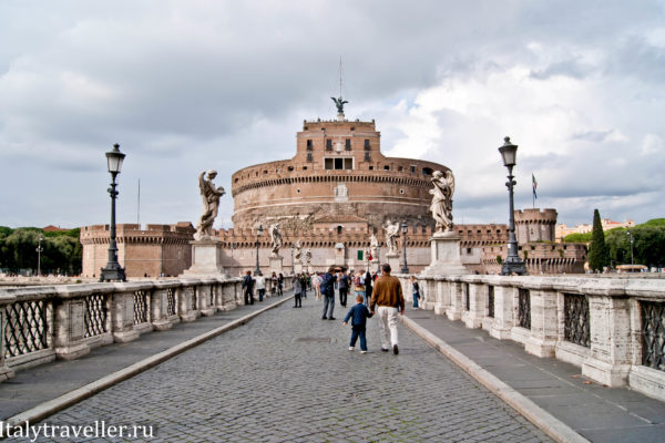 Посещение замка Святого Ангела в Риме