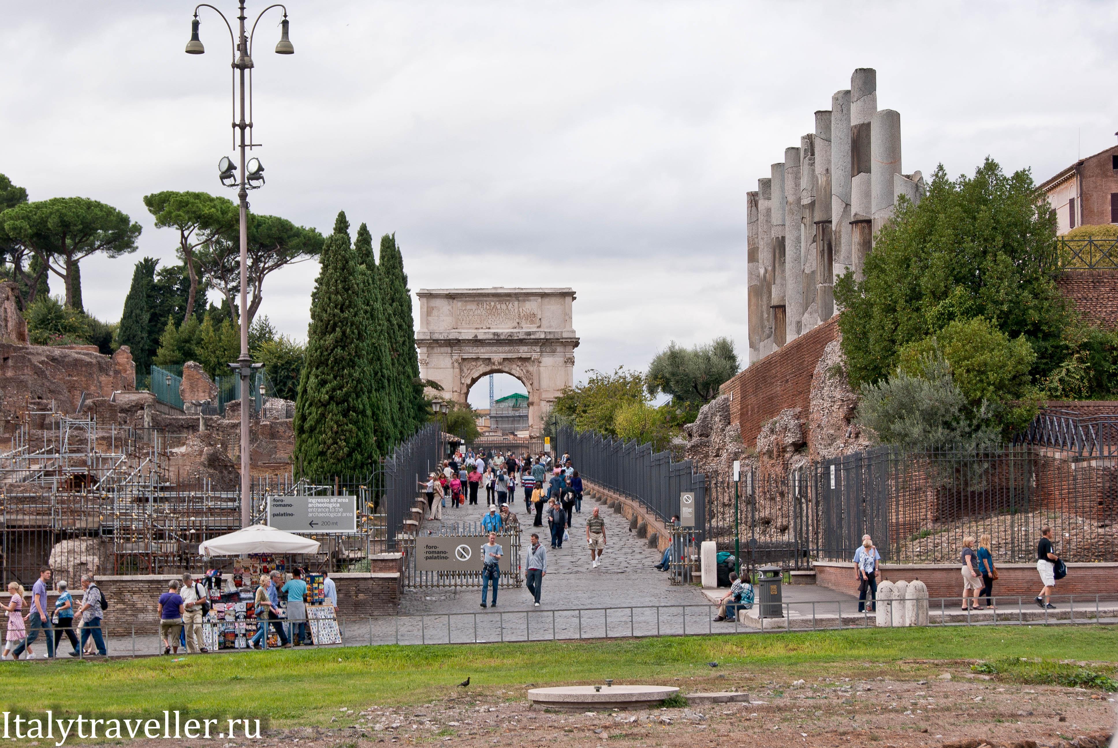 Триумфальная арка Тита: интересные факты